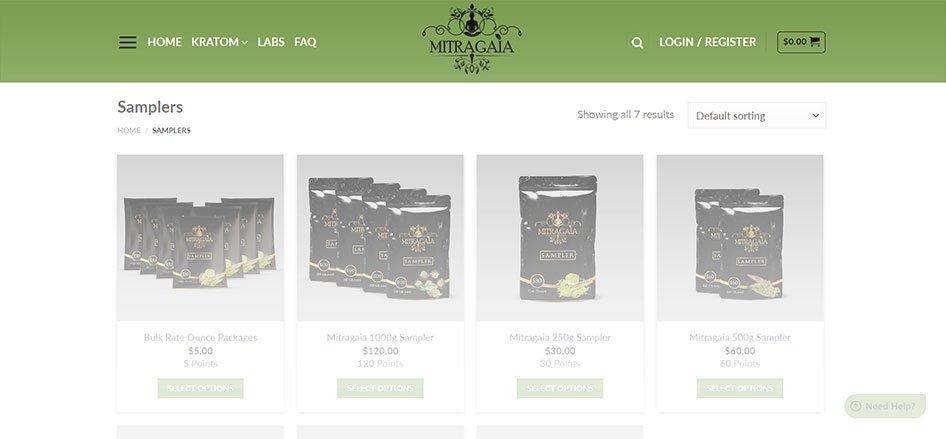 Gaia Ethnobotanical Website Kratom Products