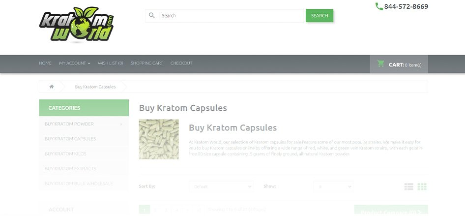 KratomWorld - Best Kratom Capsule Vendors